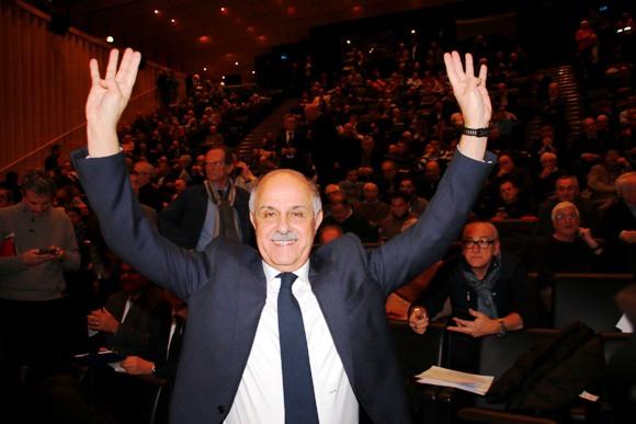 La soddisfazione del Presidente Di Rocco (Foto di Battista Cailotto)