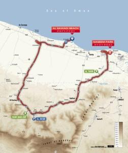 Planimetria della 1^ tappa del Tour of Oman