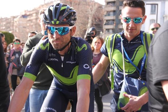 Valverde col suo massaggiatore (Jean Claude Faucher)