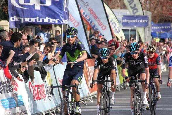 Altra posa di Valverde all'arrivo (Foto Jean Claude Faucher)