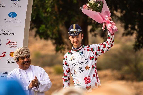 Tour of Oman 2017 - Stage 3 - Sultan Qaboos University / Quriyat -  Le Britannique Mark CHRISTIAN (ABS) conserve lui-aussi son maillot du plus combatif.
