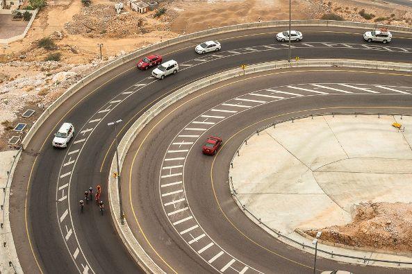 Tour of Oman 2017 - Stage 3 - Sultan Qaboos University / Quriyat - Six hommes prennent le large : Brammeier (ABS), Feng (TBM), Van Lerberghe (SVB), Mannion (UHC), Kuboki (NIP) et Sisr (CCC).