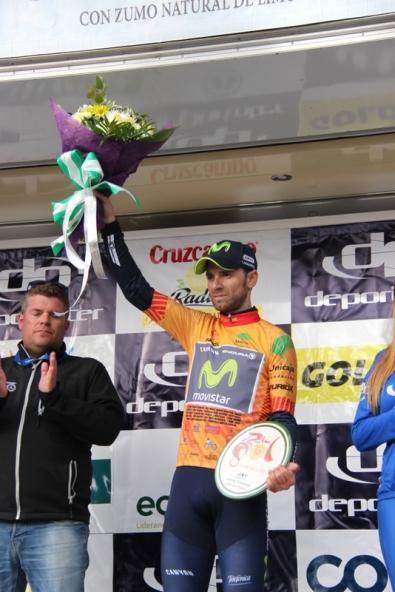 Valverde sul podio (Foto Jean Claude Faucher)
