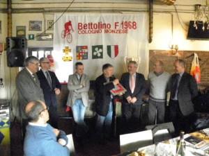 Bernardi ringrazia per il prestigioso Premio ricevuto (Foto Nastasi)