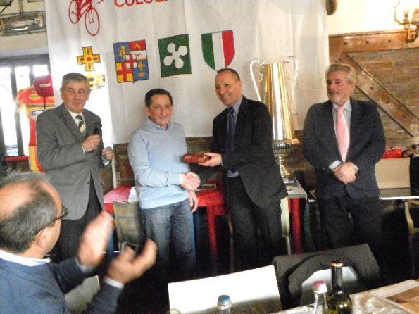 Giuseppe Ramponi, ex della Bettolino Freddo premiato (Foto Nastasi)