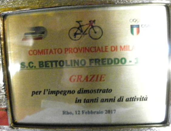Targa dedicata dal CP-FCI di Milano (Foto Nastasi)