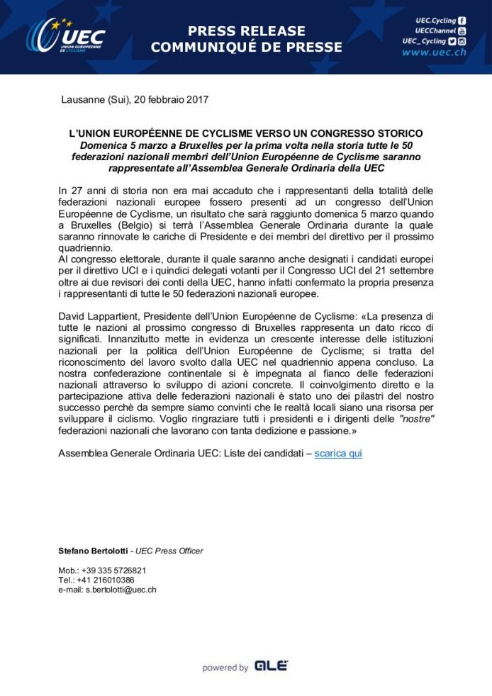18.02.2017 - congresso storico con 50 federazioni partecipanti
