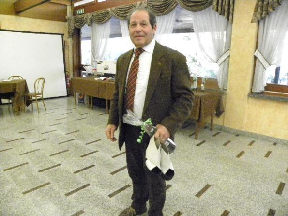 Mario Raimondi ha rallegrato la festa con le sue battute teatrali (Foto Nastasi)