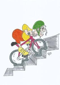 21.02.2017 - Ciclista sfinito dalla fatica (comico)