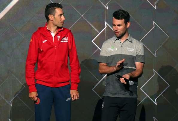 ABU DHABI TORU: TEAM PRSENTATION : Vincenzo Nibali and Marco Cavendish