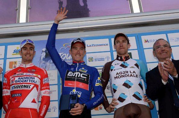 1* Rohan Denis, 2^ Mattia Cattaneo, 3^Alexander Geniez 3^. Questo il podio finale del Giro della Provenza (Francia)