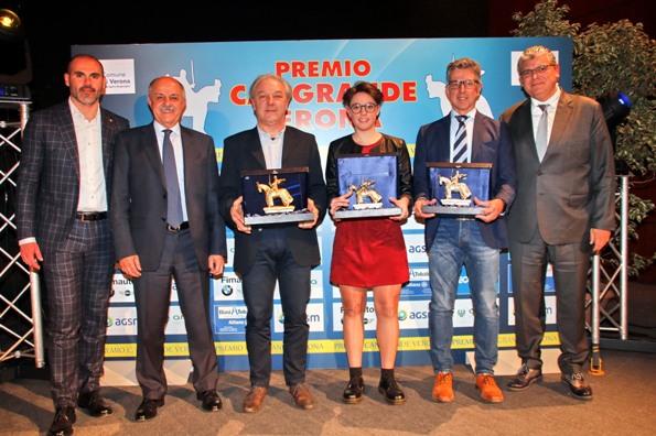Da sx, ass sport VR, Bozza; Di Rocco, Padre di Viviani; Stefani; Dantoni e Delle Case (photobicicailotto)