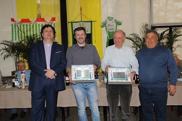 Riccardo Piffer e Rocco D'Aprile una premiazione (Foto Giuseppe Castelli)