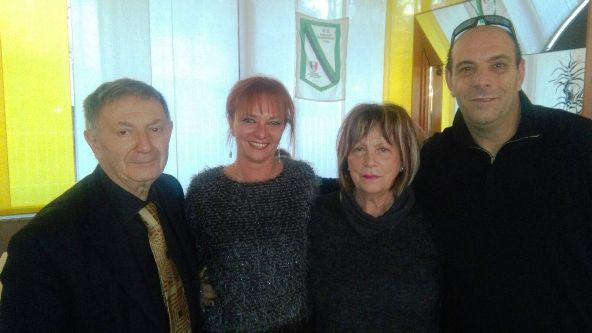 Da sx, Bernardi, Fabiola, Dina e Roberto (Foto Castelli)