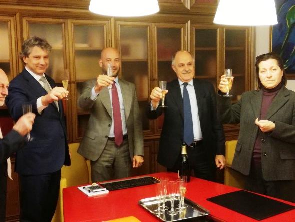 da sx, Massimo Pessina, Ing. Francesco Nobile, Di Rocco e Maria Cristina Gabriotti