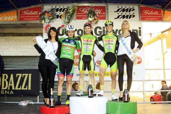 Da sx, Cima, Begnoni e Lonardi, podio della 55^ Coppa Belricetto (Foto Soncini)