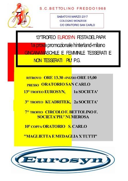 07.03.2017 - LOCANDINA GIMKANA FESTA DEL PAPA^ 18.03.2017