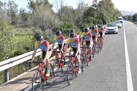 La Squadra in allenamento in Sardegna (Foto Rodella)
