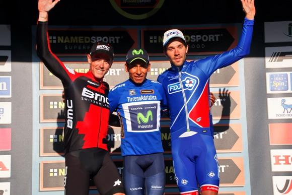 Denis, Quintana e Pinot, podio 52^ Tirreno Adriatico (photobicicailotto)