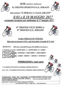 16.03.2017 - 3 e 10 maggio due gare serali a Gallarate
