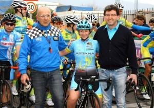 Lisa Morzenti, Campionessa Europea Cronoindividuale Donne Juniores in gara a San Paolo d'Argon qui con Lussana e Torri (Foto Berry)
