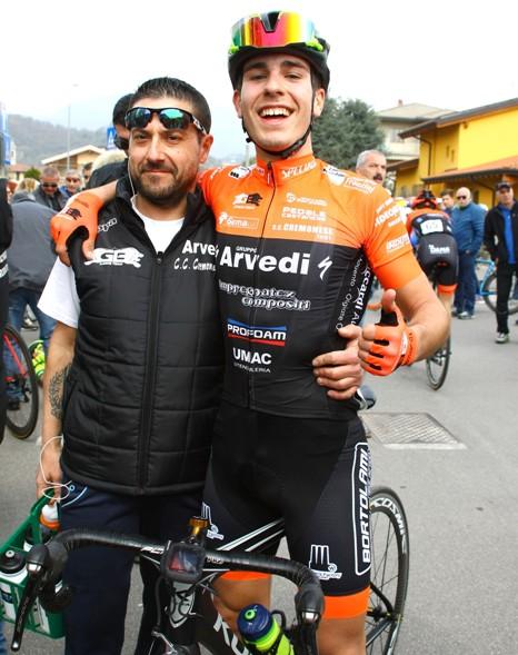 Rastelli col suo Direttore Sportivo (Foto Berry)