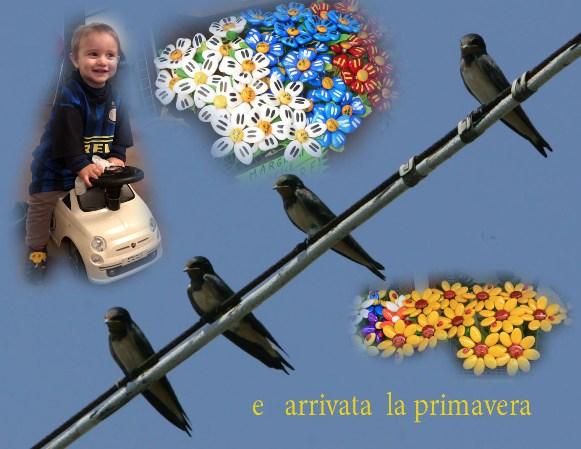 Evviva la Primavera da Nonno Piso e Nipotino Matteo (Fotocomposizione di Antonio Pisoni)