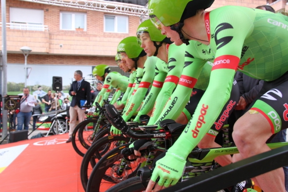 Team Cannondale in rampa di lancio (Foto JC Faucher)