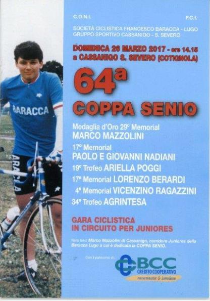 21.03.2017 - Locandina 64^ Coppa Senio