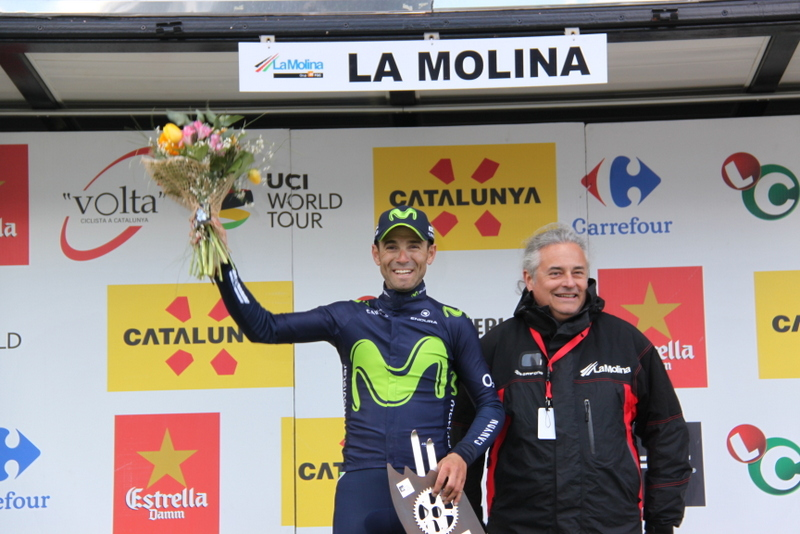 Valverde esulta sul podio (Foto Jean Claude Faucher)