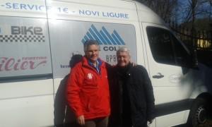 Michele Dancelli e Massimo Subrero a Prevalle in occasione della Coppa San Geo