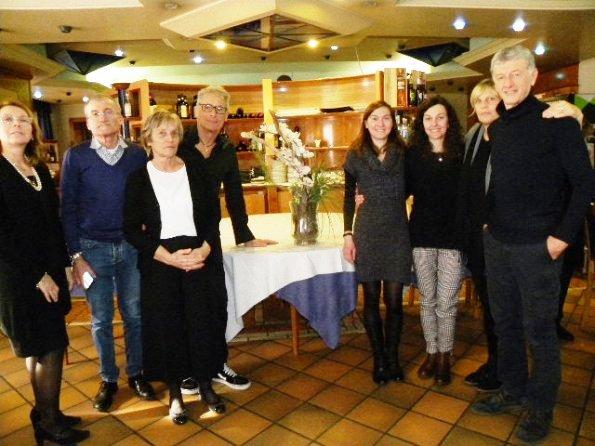 Da sinistra, sigra Villa e Dario; Valentina e il marito Giuliano Silenzi; le sorelle Silvia e Franca Giovenzana e, Bertolaso e signora. (Foto Nastasi)