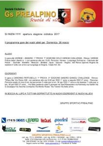 26.03.2017 - Comunicato per sponsor 26.03.17