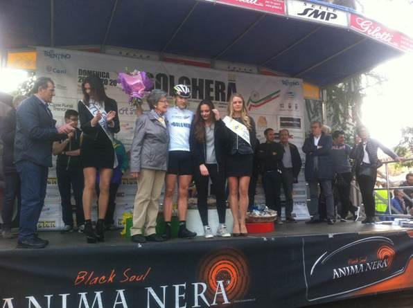 Edoardo Zambanini con la maglia di vincitore della 108^ Bolghera categoria allievi