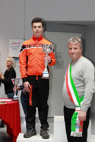 Premiazione di Fabio Massa (Foto Kia Castelli)