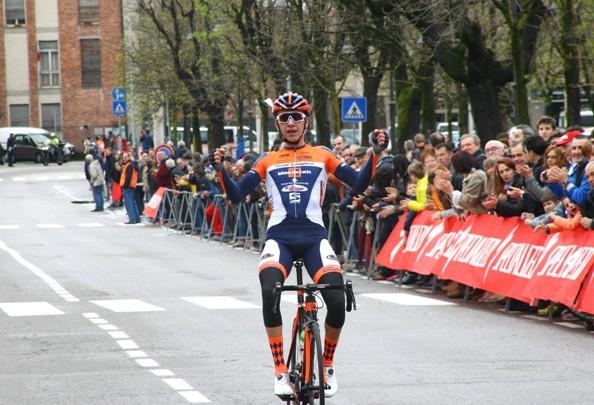 Andrea Piccolo all'arrivo (Foto Berry)