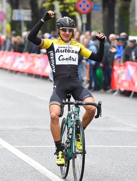 Mattia Petrucci vince a Busto Arsizio (Pubbliphoto)