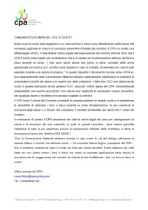 FRENI A DISCO - comunicato stampa