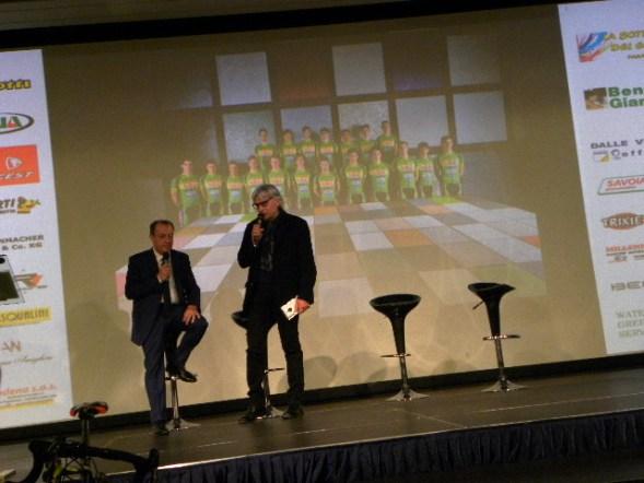 Il CT Marino Amadori con Alessandro Brambilla presentatore