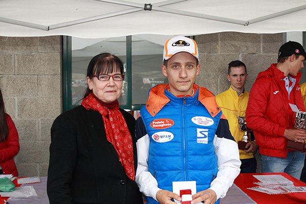 Premiazione di Lorenzo Galimberti 3^ classificato (Foto Kia)