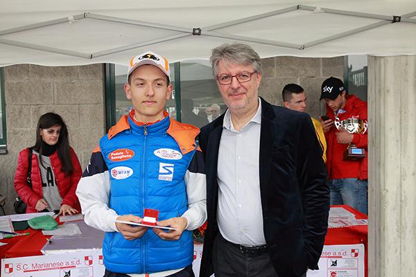 Premiazione del vincitore Francesco Galimberti (Foto Kia)