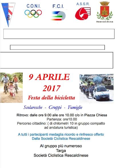04.04.2017 - Locandina pedalata in compagnia il 9.4.17