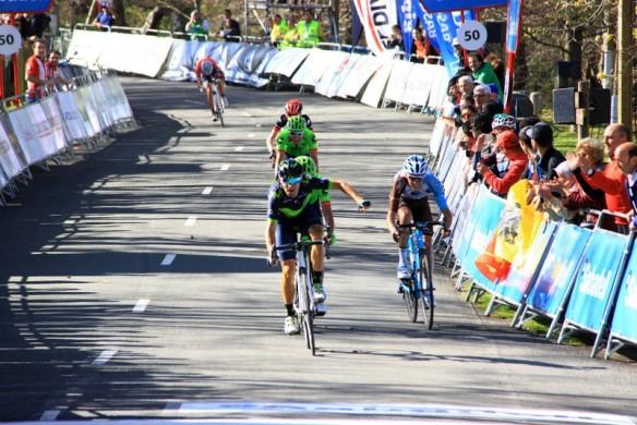 Valverde contro Bardet grande sprint (Foto Jean Claude Faucher)