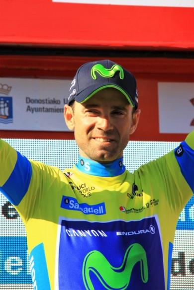 Valverde in maglia gialla ad una tappa dalla fine (Foto J.C. Faucher)