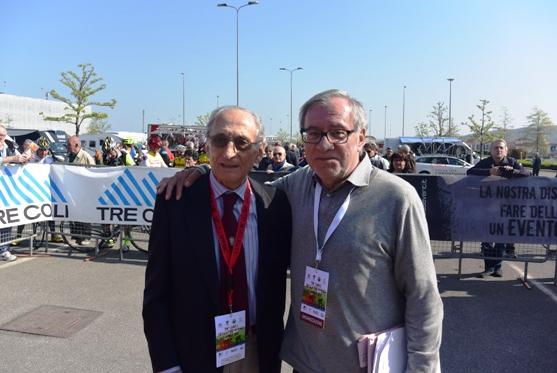 L'Organizzatore Ivano Carrozzino col giornalista Aldo Trovati