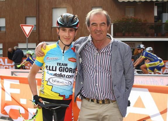 Martinelli con Carlo Giorgi (Foto Berry)