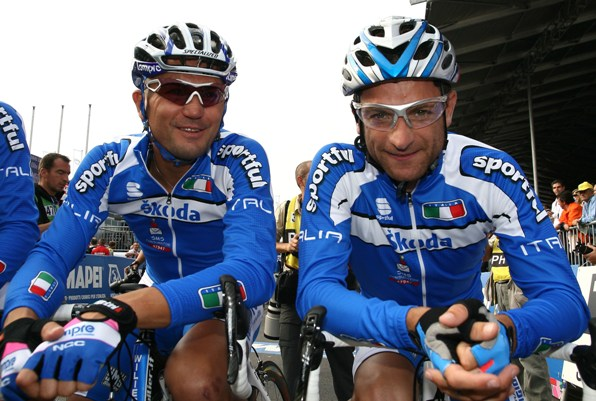 A destra, Michele Scarponi (Foto Berry)