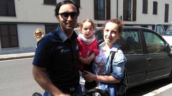 Giuseppe De Maria, DS dell'Equipe Corbettese qui con la sua famiglia (Foto Nastasi)