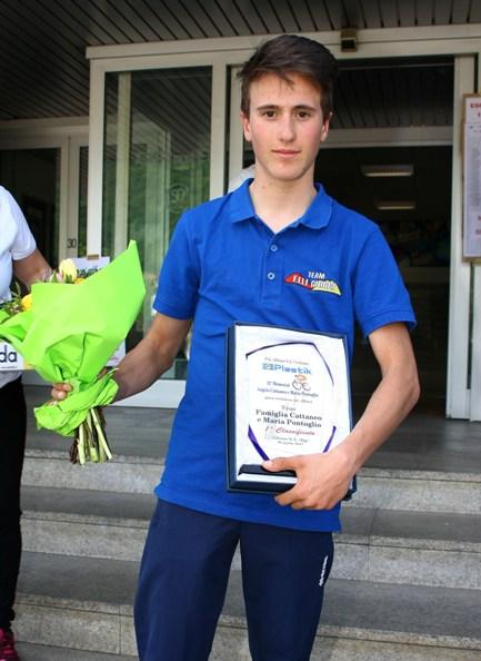 Martinelli dopo la premiazione (Foto Berry)