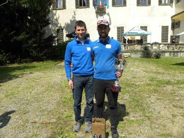 A destra, Edoardo Forina, Direttore Sportivo col suo Collaboratore Nicolo^ Marini (Foto Nastasi)